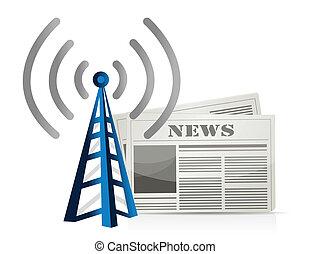 wifi news illustration design over