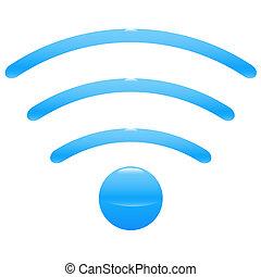 wifi, punto, icono