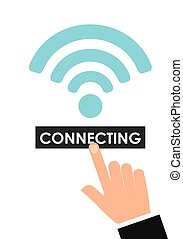 wifi service design, vector illustration eps10 graphic