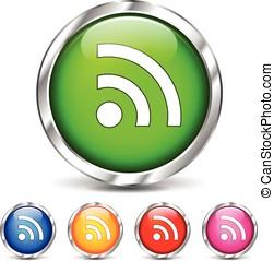 wifi, set, icone