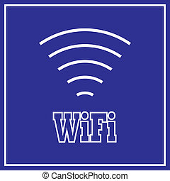 WiFi Sign white on blue