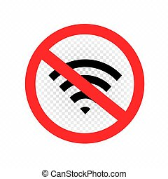 Wifi signal forbidden symbol icon