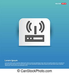 Wifi Signal Icon - Blue Sticker button