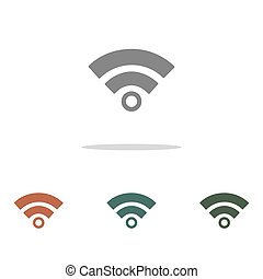 wifi signal icon isolated on white background