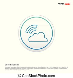 Wifi signal icon - white circle button