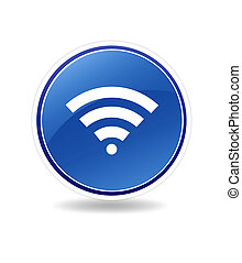 High resolution icon of wifi wireless spot.
