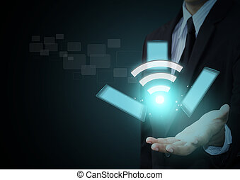 Wifi symbol and touchpad technology - Wifi symbol and touch...