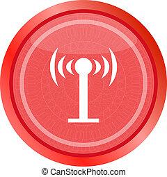 Wifi symbol icon (button) isolated on white background