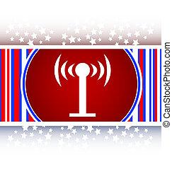 Wifi symbol icon button
