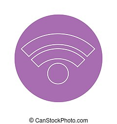 wifi symbol icon, colorful design