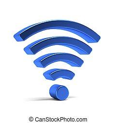 wifi, symbool., illustratie, vertolking, 4g, 3d