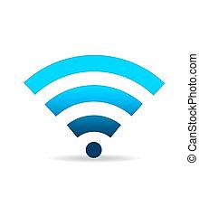 wifi, vert, signe