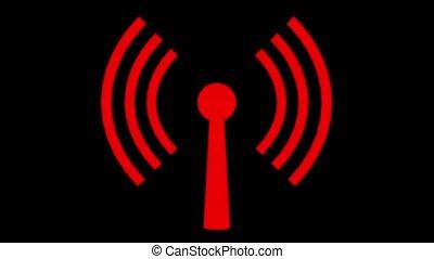Wifi wireless internet network net web connection icon logo wi-fi wi fi 4k