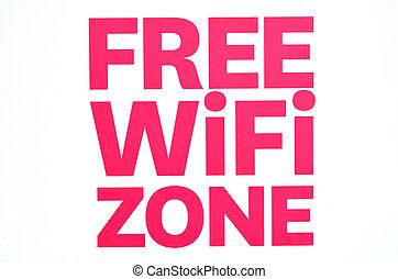 wifi, zone, frei