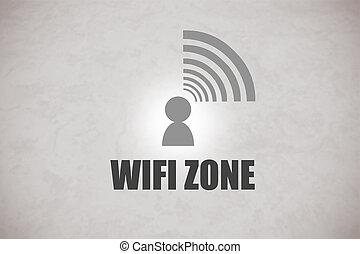 wifi, zone