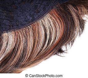 Wig on the inner side, isolated on white