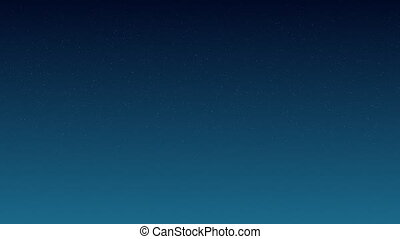 Wiggling star in blue sky at night