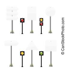 wight, set, strada, illustrazione, segno