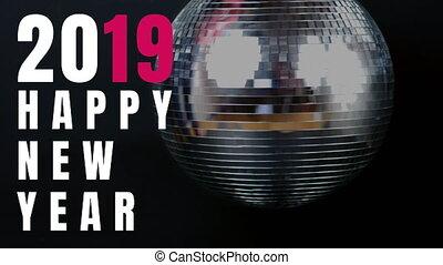 wigilia, błyszczący, nowy rok, piłka, 4k, dyskoteka