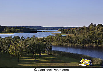 Wigry national park - Wigry Lake in Wigry National Park...
