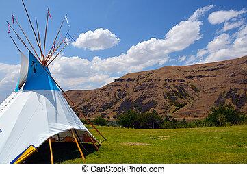 Wigwam teepee. - Wigwam Authentic teepee of Native North...