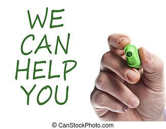wij, helpen, u, groenteblik