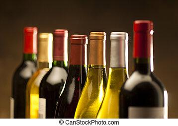 wijn bottelt