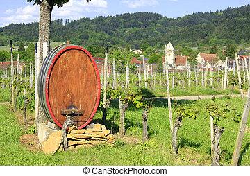wijngaarden, vat, wijntje
