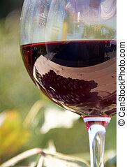 wijnglas, rood