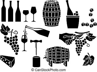 wijntje, iconen, set