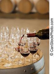 wijntje, proeven