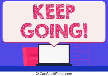 wijzende, foto, draagbare computer, meldingsbord, blank lichten door, reusachtig, wrok, maken, leven, toespraak, tekst, conceptueel, witte , bel, going., het tonen, moeilijkheid, inspanning, bewaren, idea., werkruimte, toestand, normaal
