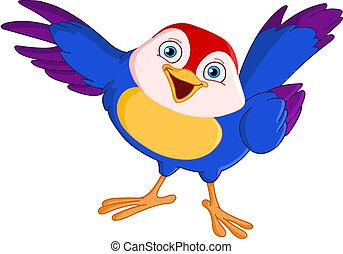 wijzende, vogel