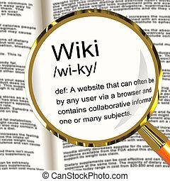 wiki, ορισμός , collaborative, κοινότητα , εγκυκλοπαίδεια , ...