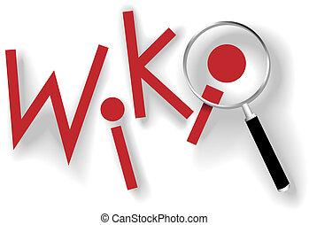 wiki, πληροφορία , κλειδιά , μεγεθυντικός φακός , βρίσκω