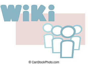 wiki, πληροφορία , στοιχεία , άνθρωποι , σύμβολο , σχεδιάζω