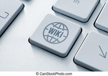 wiki, botón