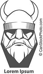 wiking, logo, głowa
