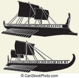 wiking okrętują, starożytny