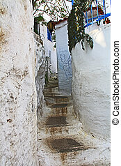 wikkeling, thuis, griekenland, athene, plaka, naast, stappen, smalle