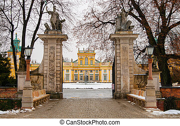 Wilanow Palace in Warsaw, Poland.