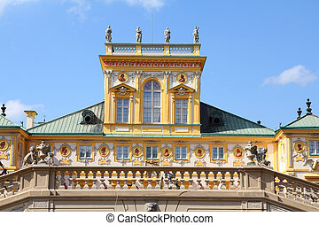 Wilanow palace in Warsaw - Warsaw, Poland. Famous Wilanow ...