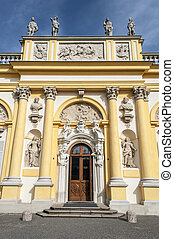 Wilanow Palace, Warsaw, Poland. - Entrance to the Royal ...