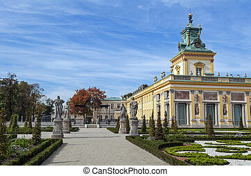 Wilanow Palace, Warsaw, Poland. - View of the Royal Palace ...
