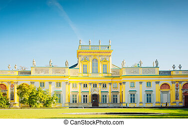 Wilanow palace, Warsaw, Poland - view of Wilanow palace in ...