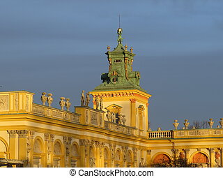 wilanow palace - Wilanow Palace of the Polish king in Warsaw...