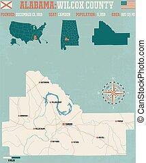 Wilcox County in Alabama USA