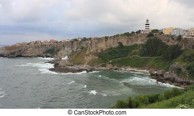 Blacksea - Wild and beautiful coast of Blacksea with stone...