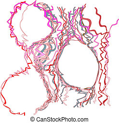 Wild and crazy Confetti Color Tangle Abstract Background