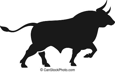 Wild angry bull vector icon